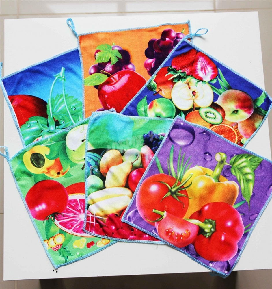 Набор салфеток микрофибра Кухонный (5шт)Подарки к Пасхе<br><br><br>Размер: 25*25