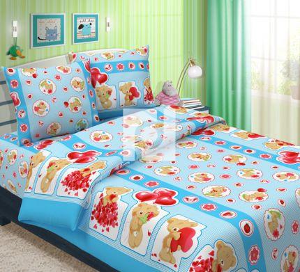 Комплект постельного белья Плюшевый мишка детскийДетское постельное белье<br><br><br>Размер: 1,5 спальный