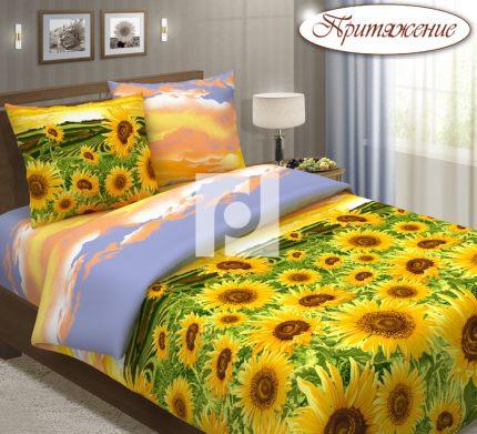 Комплект постельного белья ПодсолнухиБязь<br><br><br>Размер: Евростандарт (2 нав. 70х70)