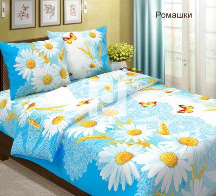 Комплект постельного белья РомашкиБязь<br><br><br>Размер: 1,5 спальный