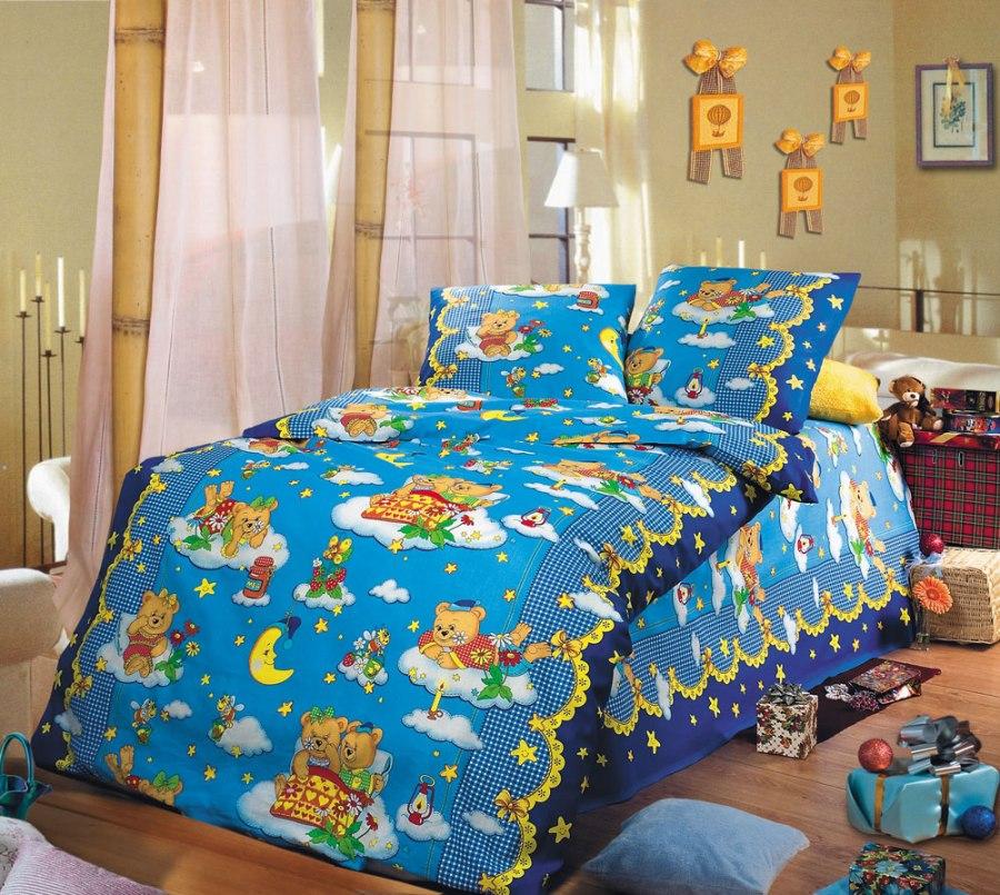 Комплект постельного белья Сладкий сонДетское постельное белье<br><br><br>Размер: Детский 112х147 (1 нав.40х60)
