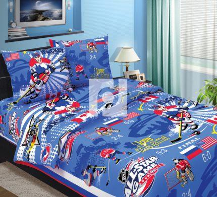 Комплект постельного белья Хоккей детскийДетское постельное белье<br><br><br>Размер: 1,5спальный