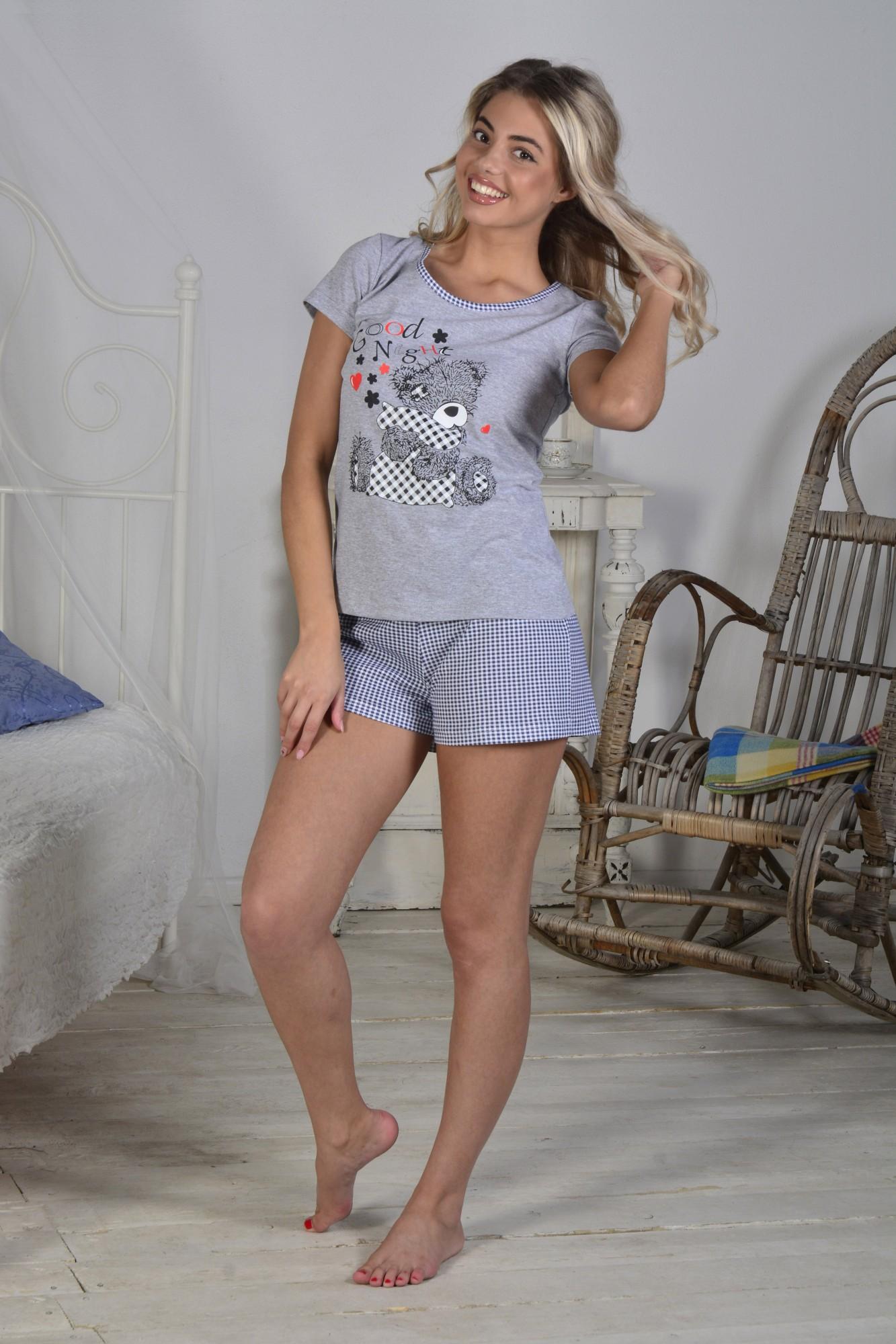 Костюм женский Любимчик футболка+шортыДомашняя одежда<br><br><br>Размер: 46