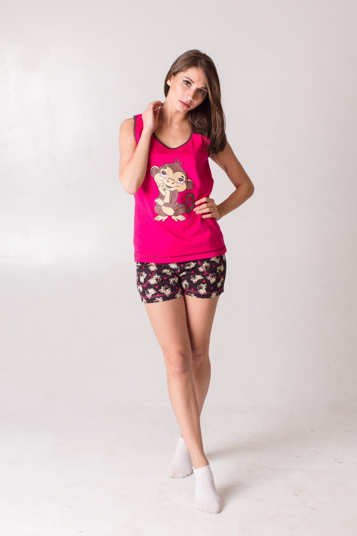 Комплект женский Анфисас обезьянкойДомашние комплекты, костюмы<br><br><br>Размер: 56
