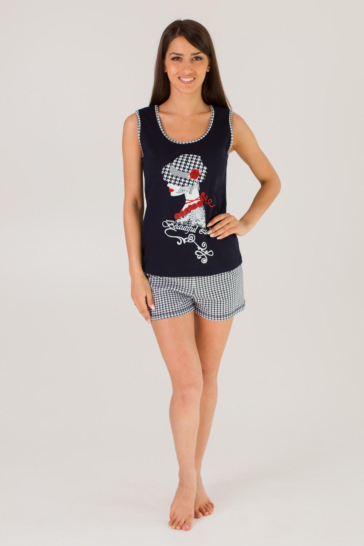 Комплект женский  Софи майка + шортыКоллекция ВЕСНА-ЛЕТО<br><br><br>Размер: 52