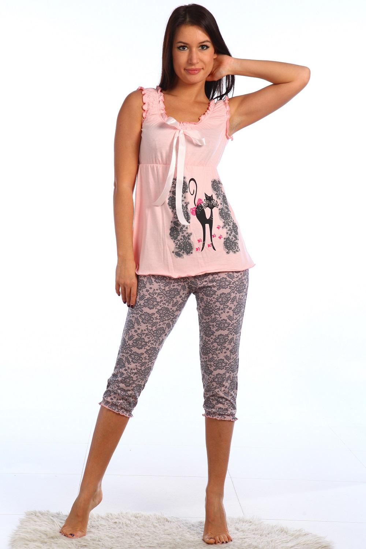 Пижама женская Тамина майка + брижиПижамы<br><br><br>Размер: 42