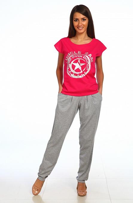 Костюм женский Звезда с коротким рукавом малиновыйКостюмы<br><br><br>Размер: 46