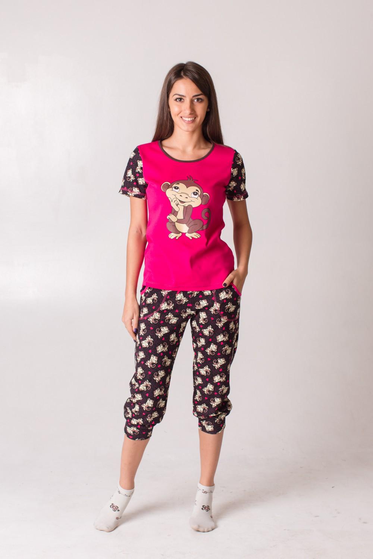 Костюм женский Анфиса футболка+бриджиДомашние комплекты, костюмы<br><br><br>Размер: 46