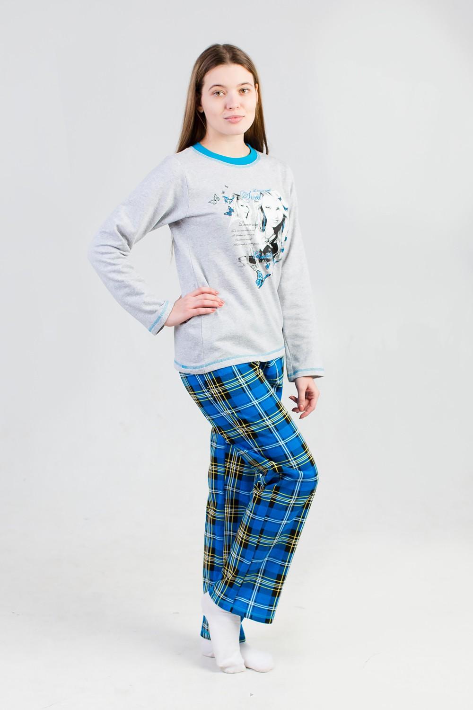Костюм женский Ангелс длинным рукавомДомашняя одежда<br><br><br>Размер: 46