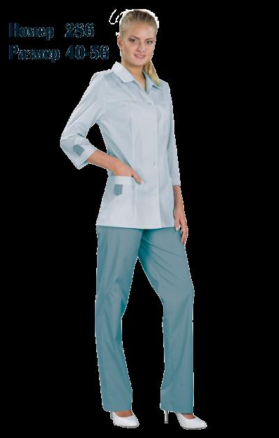 Костюм женский медицинский с брюками 3/4 рукав №286Костюмы, кофты, брюки<br><br><br>Размер: 40