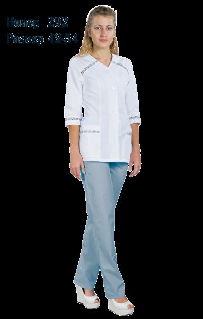Костюм женский медицинский с брюками 3/4 рукав №292Костюмы, кофты, брюки<br><br><br>Размер: 44