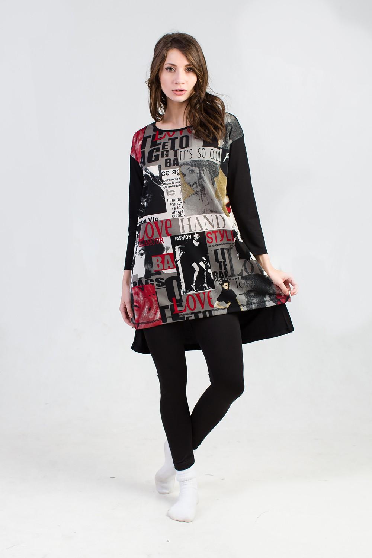 Туника женская Мерлин с длинным рукавомТуники, рубашки и блузы<br><br><br>Размер: 54