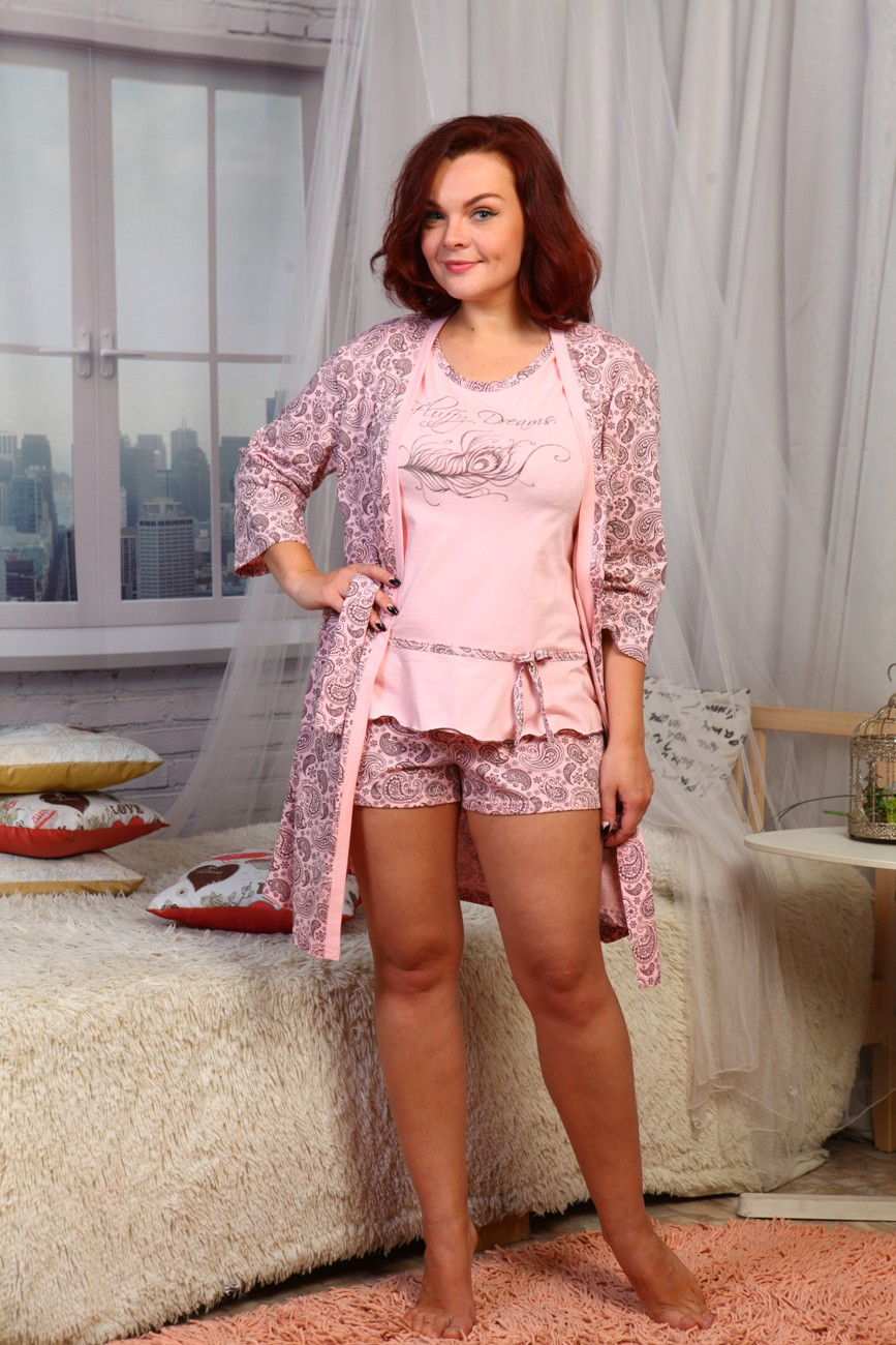 Комплект женский Перо тройкаДомашние комплекты, костюмы<br><br><br>Размер: 46