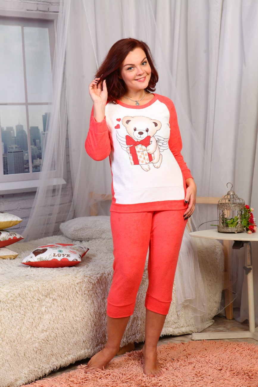 Пижама женская Подарок с длинным рукавомПижамы<br><br><br>Размер: 52