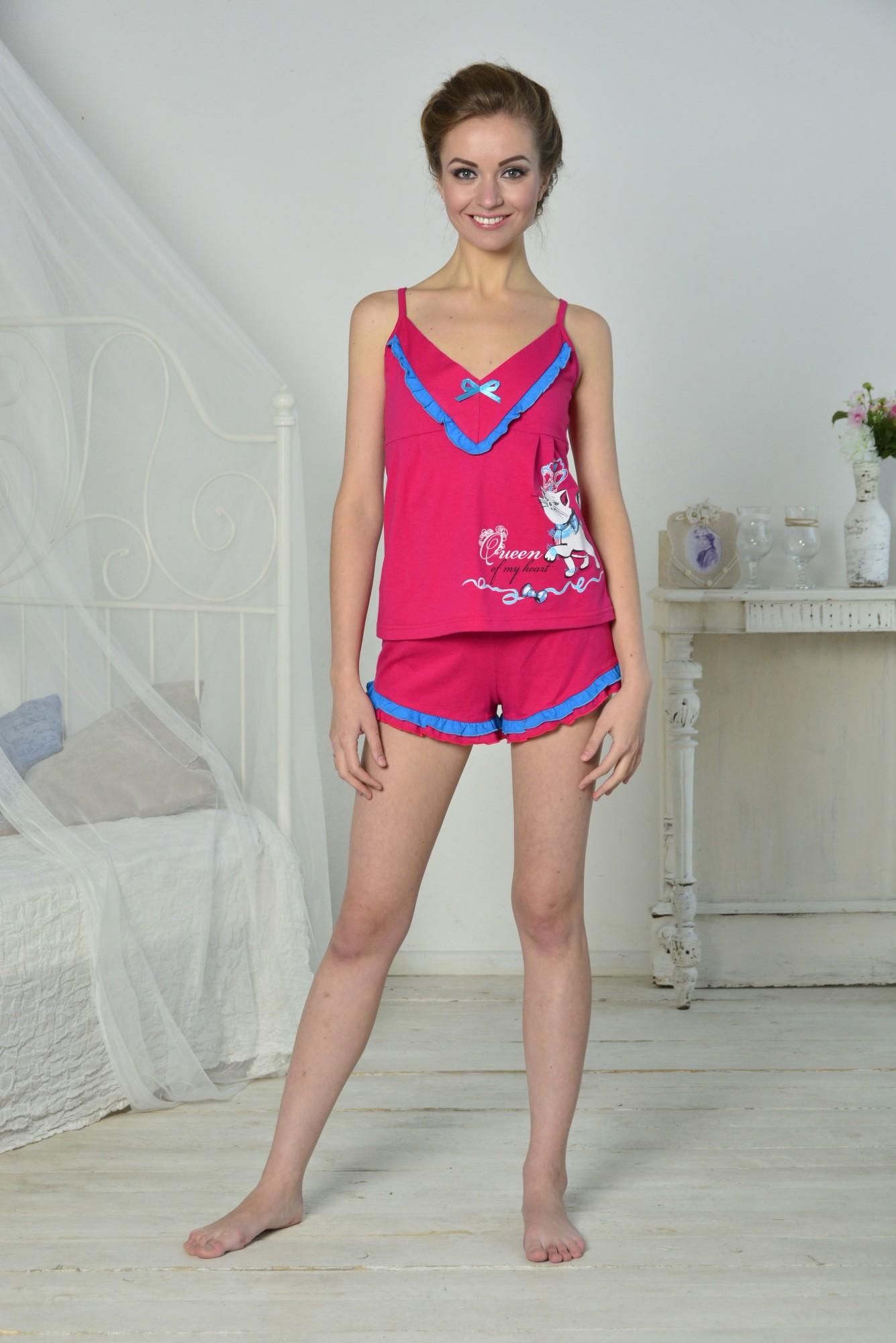 Пижама женская Королева майка +шортыПижамы<br><br><br>Размер: 40