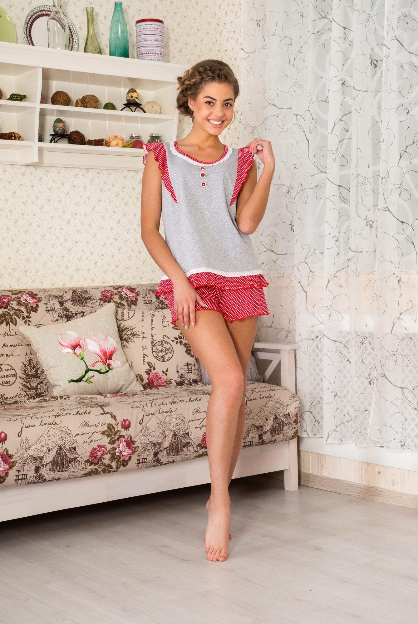 Пижама женская Незабудка майка+шортыПижамы<br><br><br>Размер: 42
