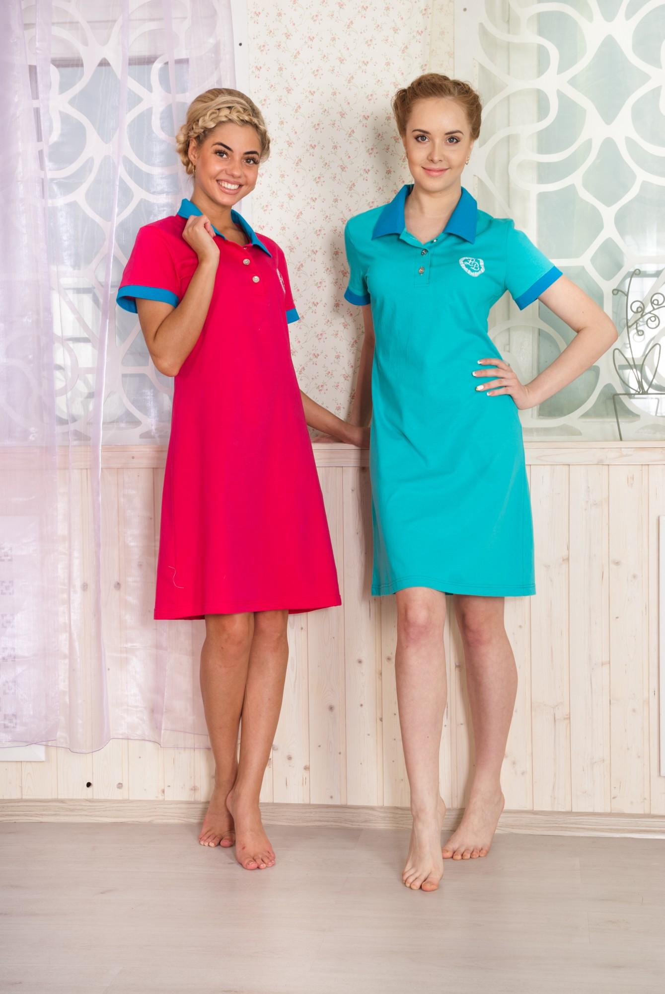 Платье женское Спорт с коротким рукавомКоллекция ВЕСНА-ЛЕТО<br><br><br>Размер: голубой