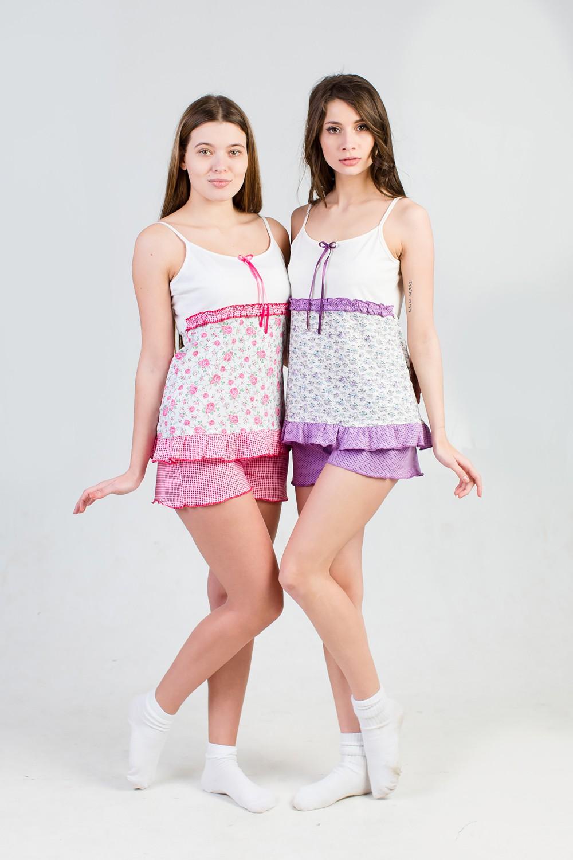Пижама женская Прованс майка+шортыДомашняя одежда<br><br><br>Размер: 56