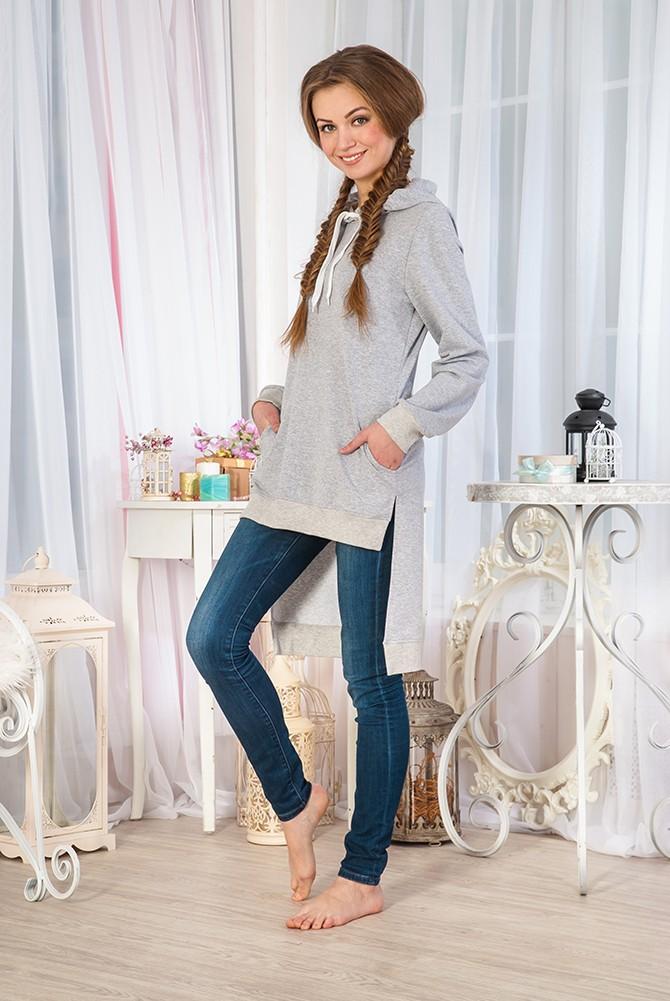 Туника женская Стайл с капюшономТуники, рубашки и блузы<br><br><br>Размер: 46