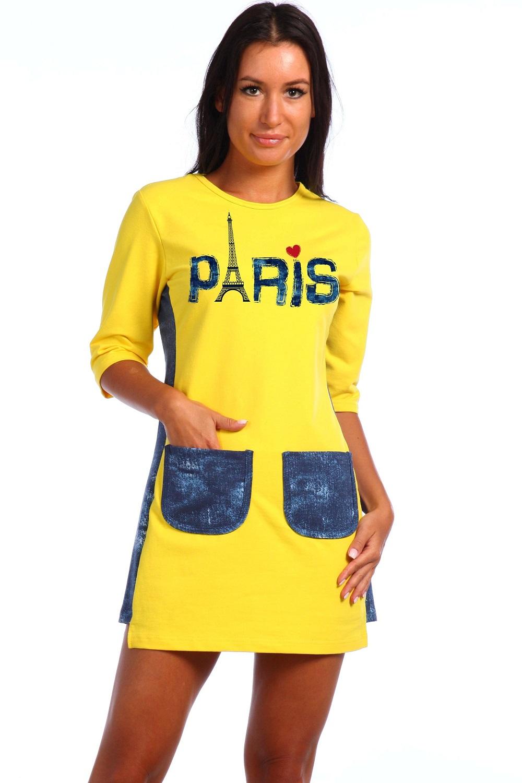 Туника женская Парижанка с рукавом 3/4Туники<br><br><br>Размер: 46