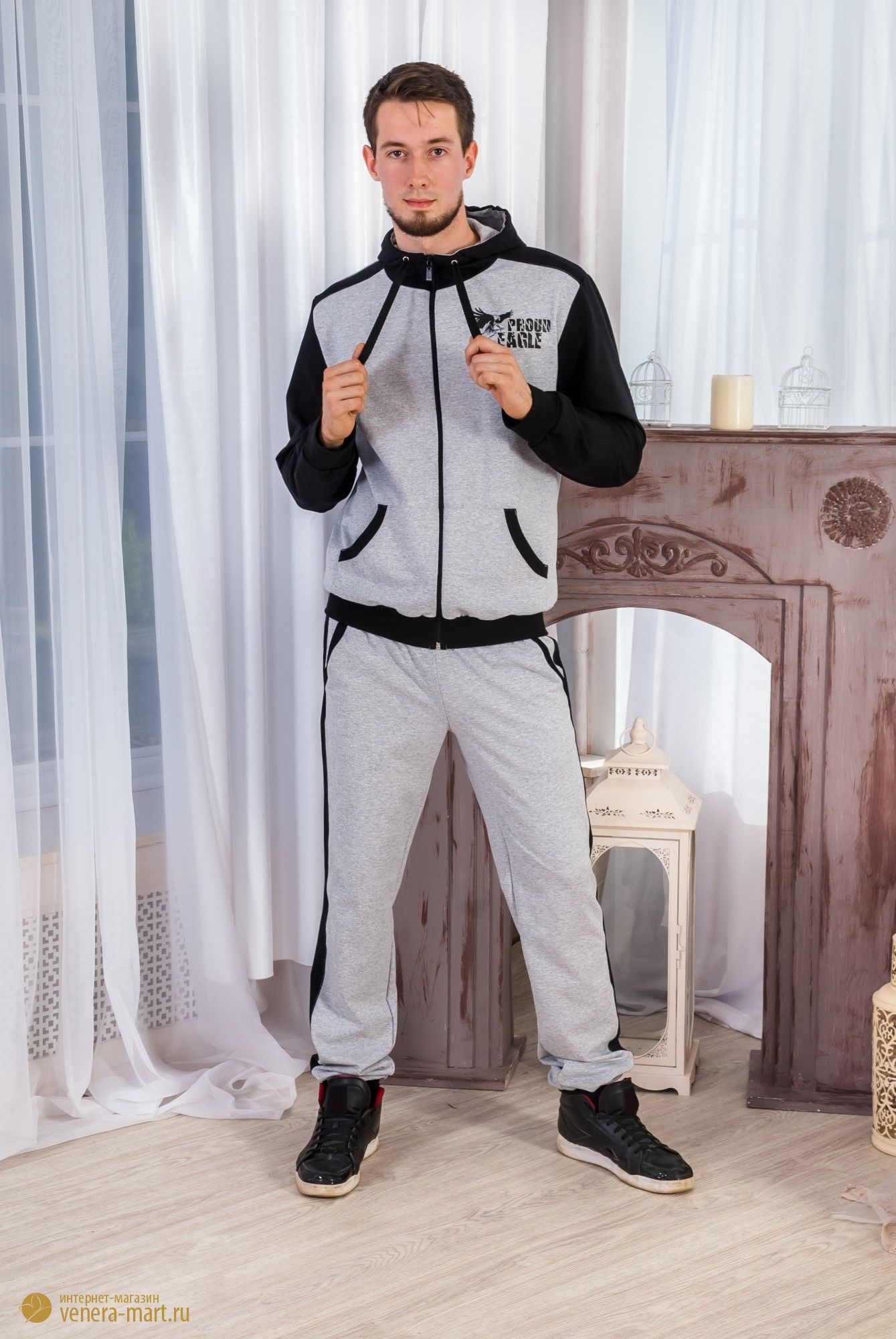 Костюм мужской Орел кофта и брюкиКостюмы<br><br><br>Размер: 56
