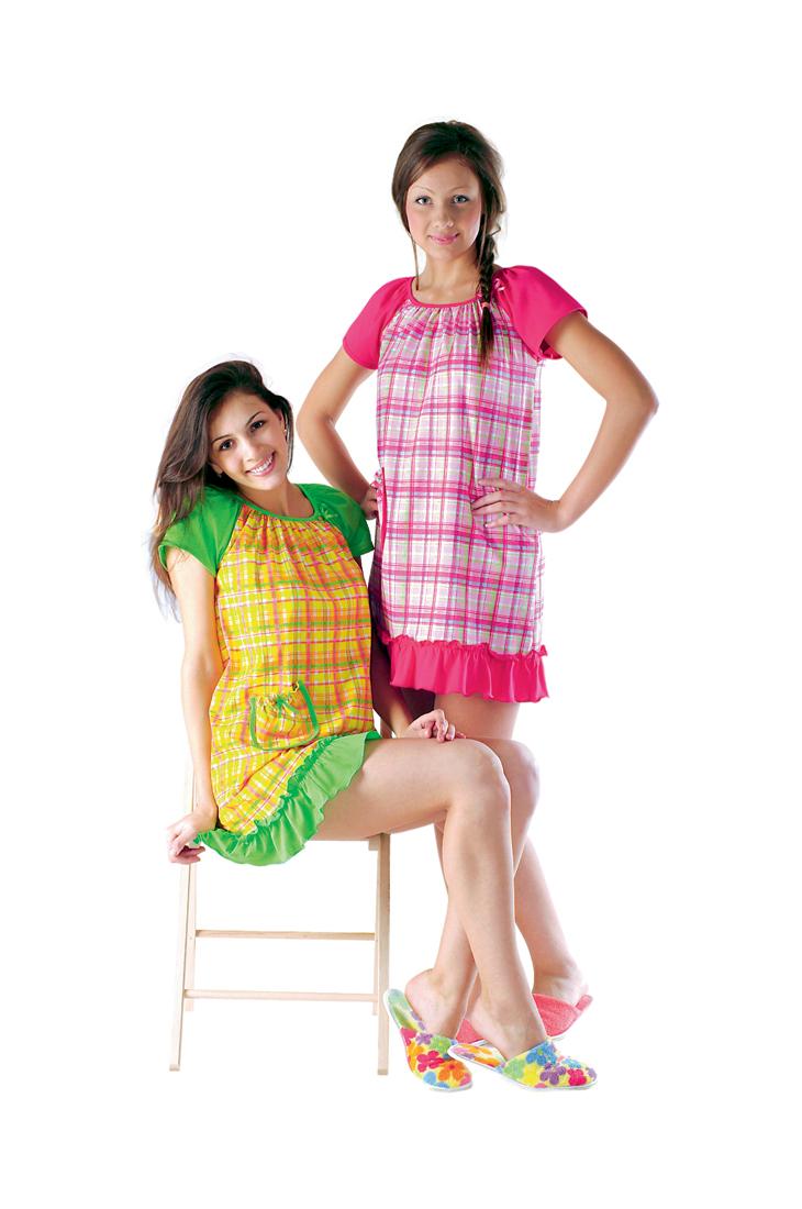 Сорочка женская Клеточка зелёнаяСорочки<br><br><br>Размер: 211.014-1 (красная)