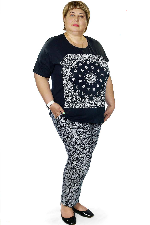 Костюм женский Имидж футболка и брюкиКостюмы<br><br><br>Размер: 54