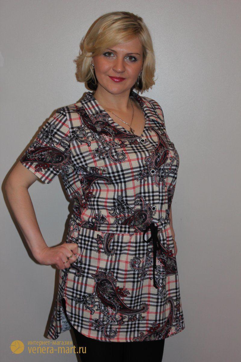 Туника женская ВераТуники, рубашки и блузы<br><br><br>Размер: 56