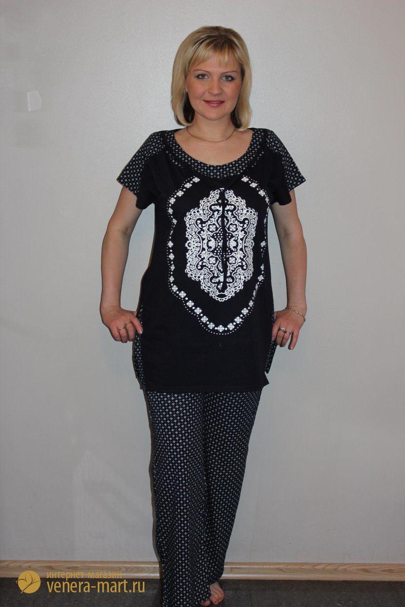 Костюм женский Часы блуза и брюки<br><br>Размер: 48