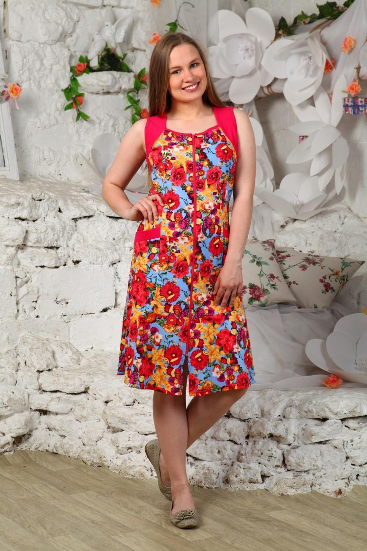 Халат женский БукетДомашняя одежда<br><br><br>Размер: 58