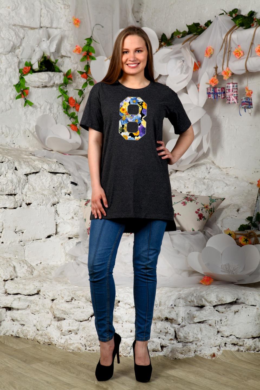 Туника женская Цветочная 8Туники, рубашки и блузы<br><br><br>Размер: 44