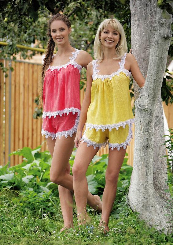 Пижама женская Очарование майка и шортыПижамы<br><br><br>Размер: 54