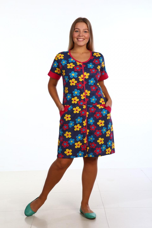 Халат женский Цветочные мотивыХалаты<br><br><br>Размер: 50