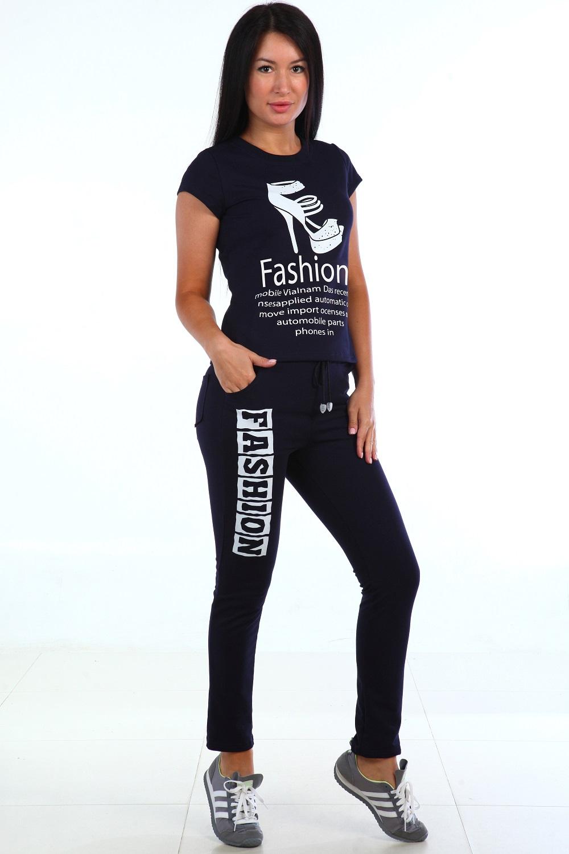 Костюм женский Санька футболка и брюкиКостюмы<br><br><br>Размер: Синий