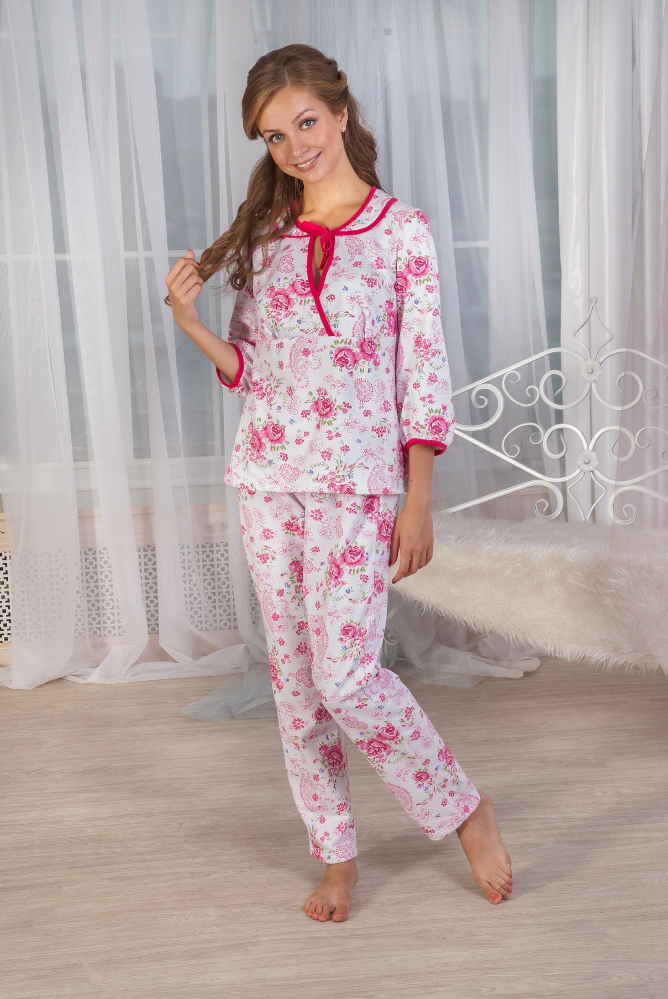 Пижама женская Злата кофта и брюкиКоллекция ОСЕНЬ-ЗИМА<br><br><br>Размер: 46