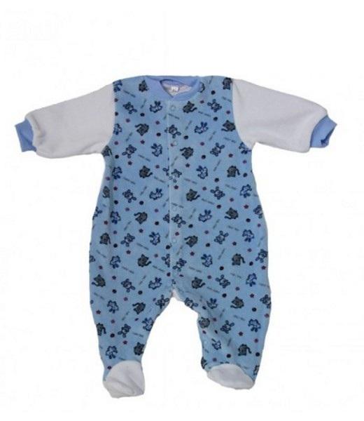 Комбинезон детский велюровый ЗверюшкиКомбинезоны и полукомбинезоны<br><br><br>Размер: Синий