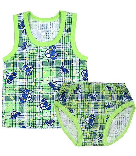 Комплект для мальчика Футболист майка и трусикиНижнее белье<br><br><br>Размер: Зеленый