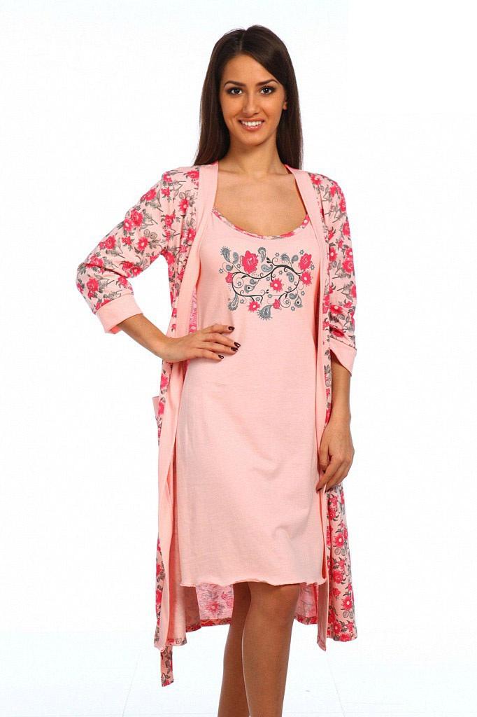 Пеньюар женский Цветок халат и сорочкаПеньюары<br><br><br>Размер: 50