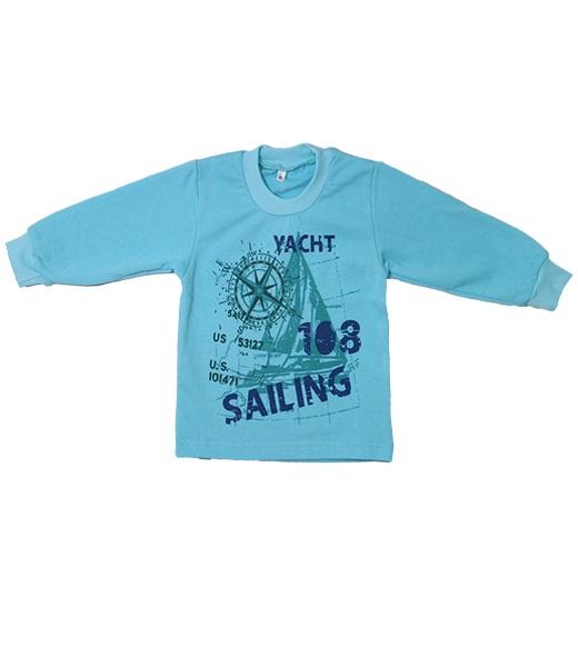 Джемпер для мальчика ЯхтаСвитеры, водолазки, джемперы<br><br><br>Размер: Зеленый