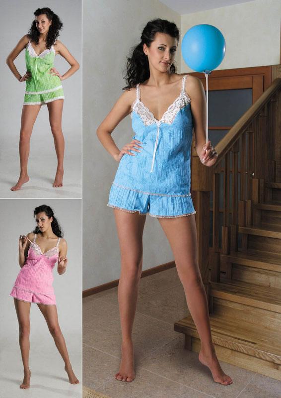 Пижама женская Ника майка и шортыПижамы<br><br><br>Размер: Зеленый