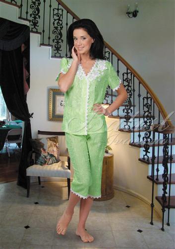 Пижама женская Росинка блуза и бриджиПижамы<br><br><br>Размер: 44