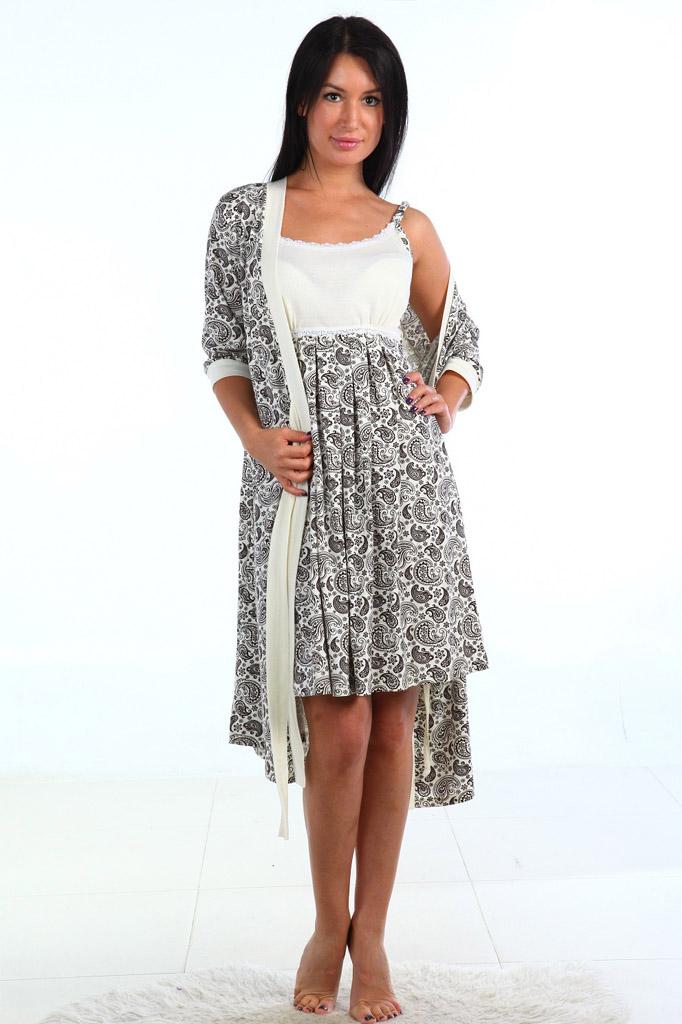 Пеньюар женский Аврора халат и сорочкаПеньюары<br><br><br>Размер: 52