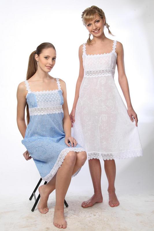 Сорочка женская НежностьСорочки<br><br><br>Размер: Голубой