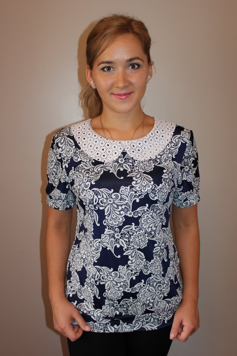 Блузка женская УльянаТуники, рубашки и блузы<br><br><br>Размер: 58