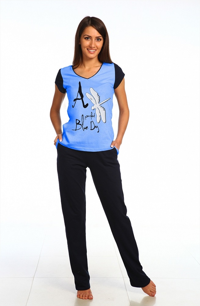 Комплект женский Стрекоза футболка и брюкиДомашние комплекты, костюмы<br><br><br>Размер: 42