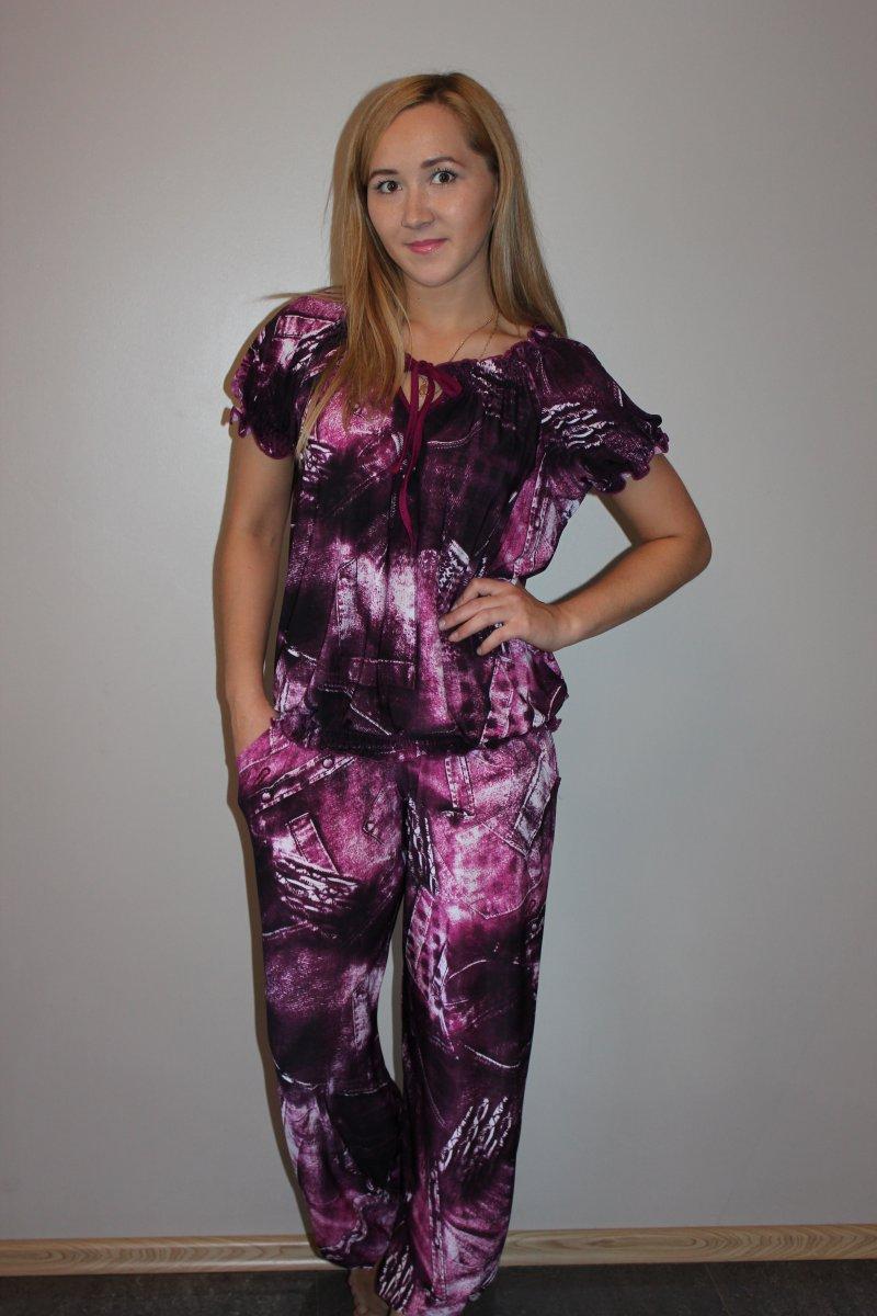 Костюм женский Бронкс блуза и брюкиКостюмы<br><br><br>Размер: 48
