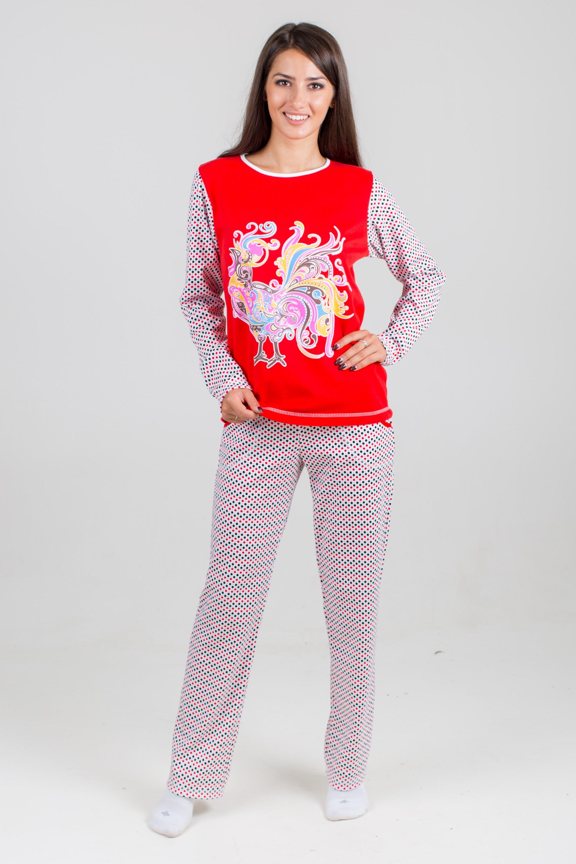 Костюм женский Феникс-1 блуза и брюкиКоллекция ОСЕНЬ-ЗИМА<br><br><br>Размер: Красный