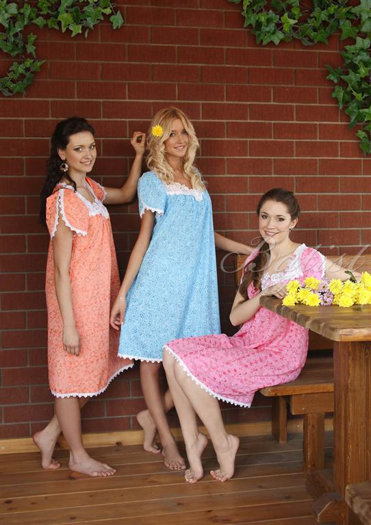 Сорочка женская УльянаДомашняя одежда<br><br><br>Размер: Розовый