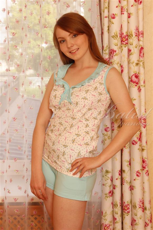 Пижама женская Соня майка и шортыПижамы<br><br><br>Размер: 48