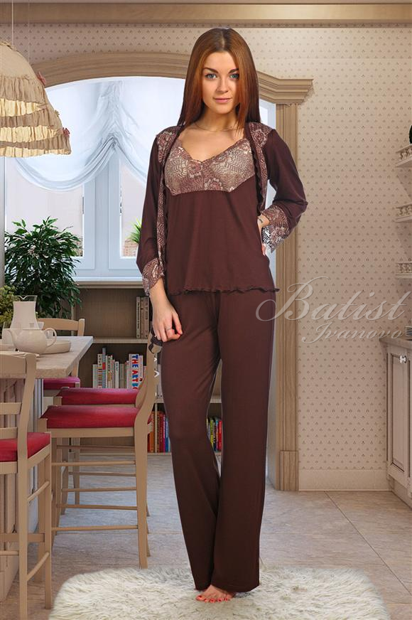 Костюм женский Светлана жакет, майка и брюкиДомашние комплекты, костюмы<br><br><br>Размер: 54